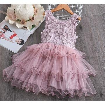 Elegancka Sukienka tiul 120