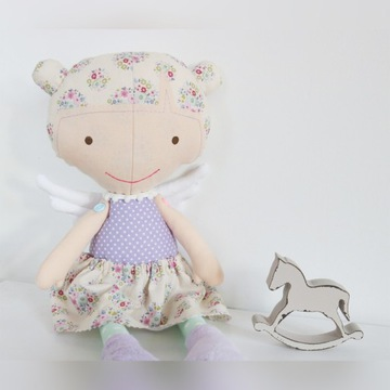 Lalka anioł handmade baby shower pierwsza lalka