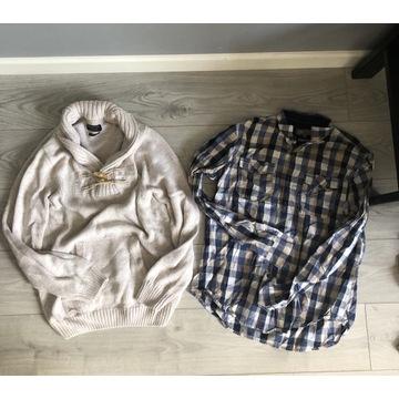 Zestaw koszula i sweter XL MĘSKI