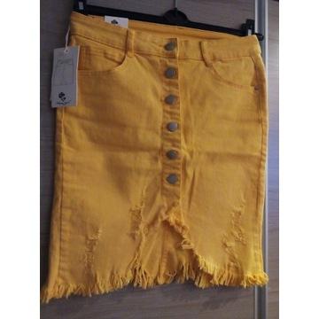 Spódniczka Jeans Moon Girl Yellow NOWA!
