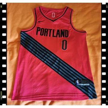 Portland Trail Blazers 0 Lillard Koszulka NBA