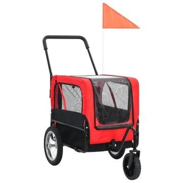 Przyczepka rowerowa dla psa, wózek 2w1