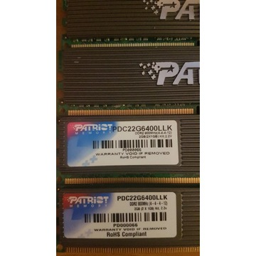 Pamięć 4x1gb 800mhz ddr2 PATRIOT