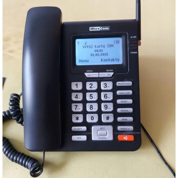 Telefon Maxcom MM28D na kartę SIM dla seniora biur