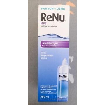 Nowy płyn do soczewek ReNu MPS 360 ml sensitive
