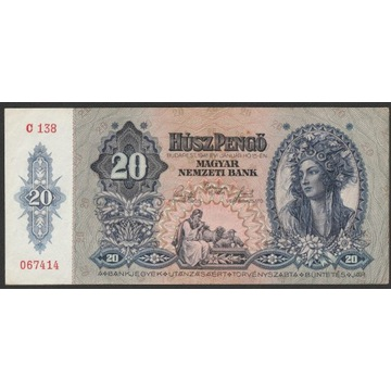 Węgry 20 pengo 1941 - C138 - stan 2