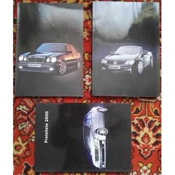 prospekty BRABUS 1996 2001 r129 w124 w202 w210 v12