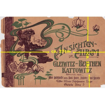 Kattowitz Gleiwitz Beuthen album z około 1905 roku
