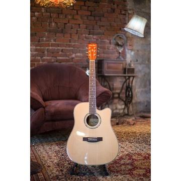 Gitara elektroakustyczna Harley Benton D-120 CE NT