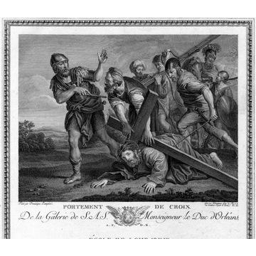 Domenichino - akwaforta 1786, Chrystus upada pod k