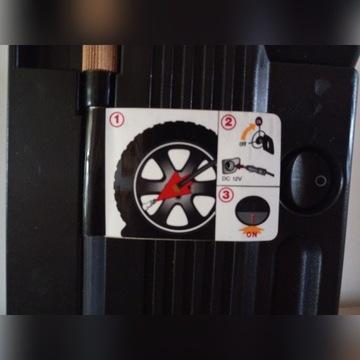 Zestaw naprawczy do kół, kompresor, klej