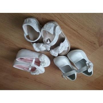 Zestaw butków dla dziewczynki balerinki sandały 23