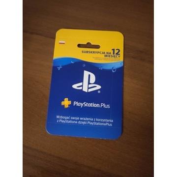 Karta PS plus 12 miesięcy playstation plus
