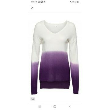 Bluzka sweterkowa ombre 36/38 - biały fiolet
