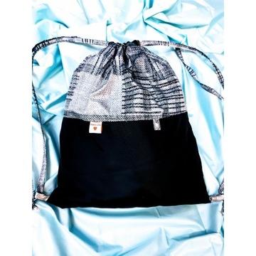 Worko-plecak wodoodporny 30x35cm handmade kratka