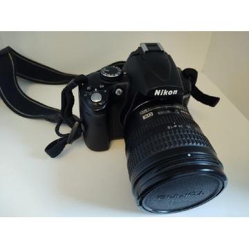 Nikon D5000, obiektyw Nikkor 18-70 f3.5-f4.5