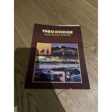 1980 DODGE auto Show Editon stary prospekt katalog