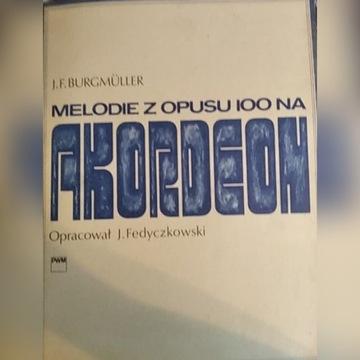 Fedyczkowski: Burgmüller Melodie Opus 100 akordeon