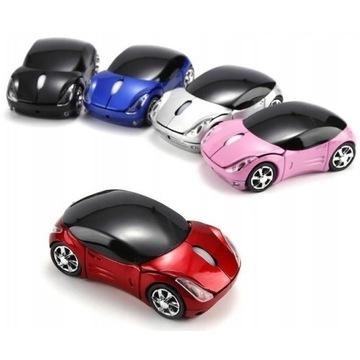 mysz optyczna bezprzewodowa kształt samochodu