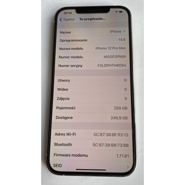 IPhone 12 Pro Max 256 GB -komplet-GWARANCJA
