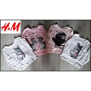 H&M bluzki 98-104 cm 2-4 lat