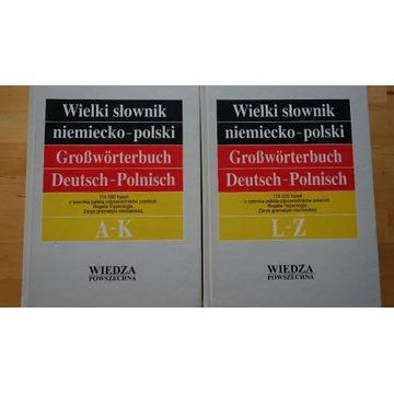 Wielki słownik niemiecko-polski stan bardzo dobry