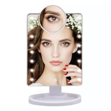 Lusterko do makijażu LED White
