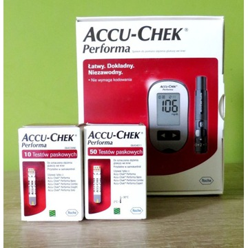 Glukometr Accu-Chek Performa + 60 szt pasków NOWY