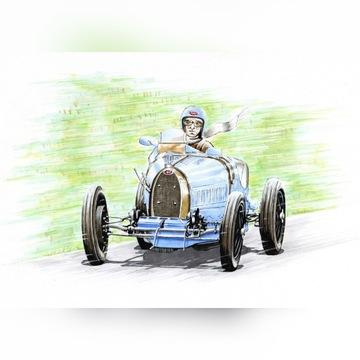 Rysunek BUGATTI wyścigówka A5 markery