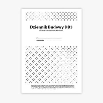 5 x Dziennik Budowy DB3, 10 stron 5 x org.+kop.