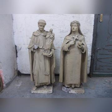 Zabytkowe XIX wieczne rzeźby św. Teresa i Antoni