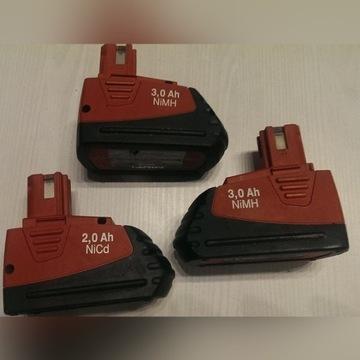 Bateria Hilti 12V 3,0Ah Ni-Mh SFB126 3szt komplet