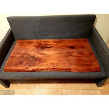 Lipowy stół z żywicą epoksydową /naturalne drewno