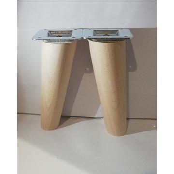 Nogi nóżki drewniane bukowe H-15 cm Skośna