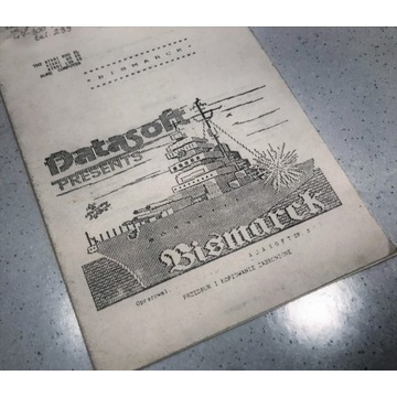 Instrukcja do gry BISMARCK prod. Datasoft - Atari