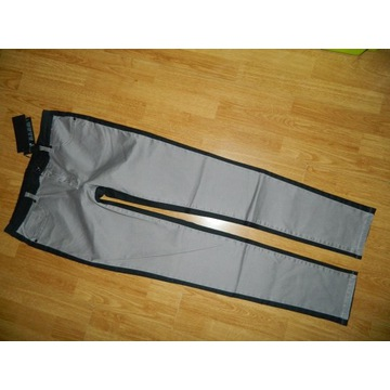 VILA spodnie czarno-szare  roz XL