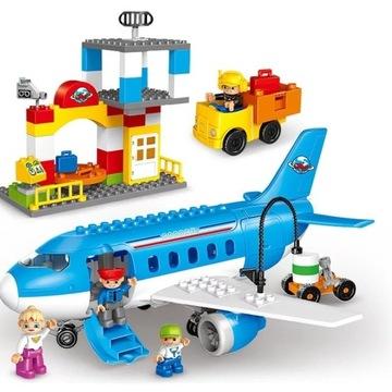 Klocki GOROCK kompatybilne z LEGO Duplo samolot