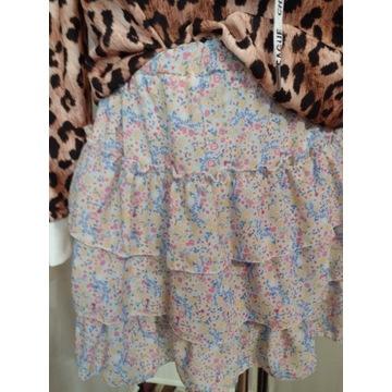 Spódnica w kwiaty kolorowa łączka