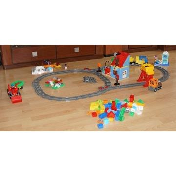 LEGO DUPLO POCIĄG TOWAROWY, Traktor, Eskimos i inn