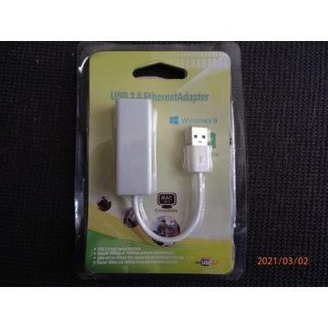 KARTA SIECIOWA przejściówka NA KABLU LAN USB RJ-45