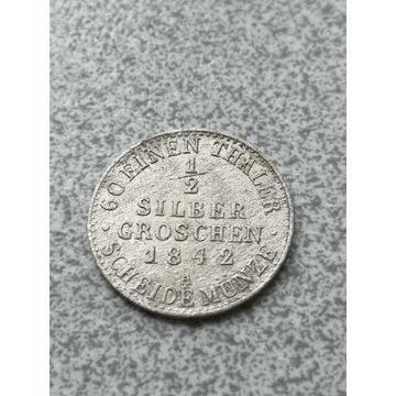 1/2 silber groschen 1842r. A Prusy