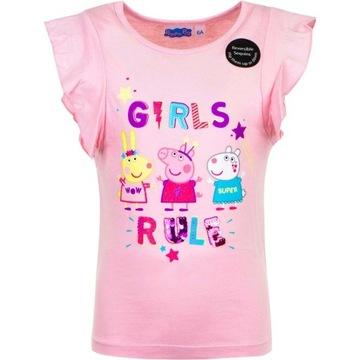Koszulka Świnka Peppa (Peppa Pig) rozmiar 110