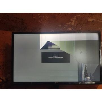 Uszkodzony monitor LG 24MP59G pęknieta matryca