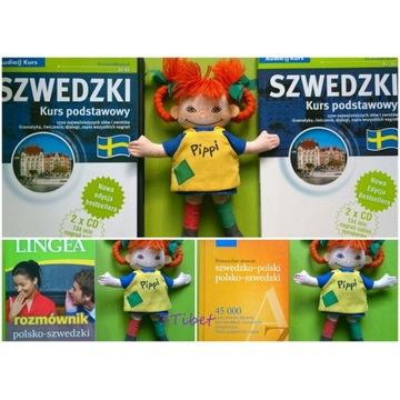 Zestaw Szwedzki książki słownik CD EDGARD Lingea