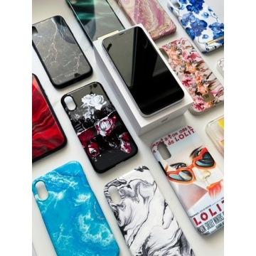 iPhone XR 64GB biały + zestaw 12 etui