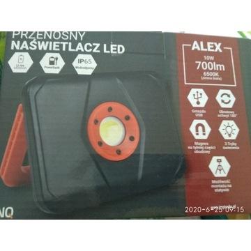 Naświetlacz LED 10 W power bank Alex
