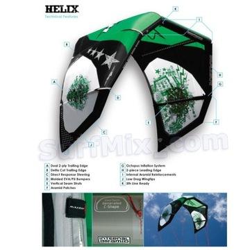 Latwiec Kite Naish Helix 10.5 + bat + plecak. Latw