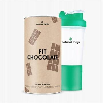 NATURAL MOJO FIT SHAKE-Zestaw Fit Chocolate+shaker