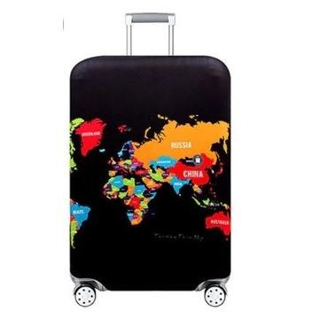 Czarny elastyczny pokrowiec na walizkę S