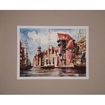 Akwarela 24x30, okno 15 x 20 cm